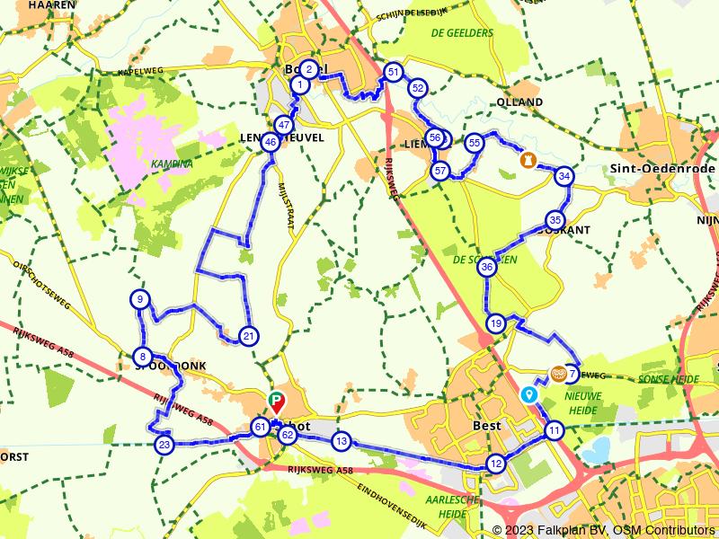 Fietsen door de velden tussen Oirschot en Liempde