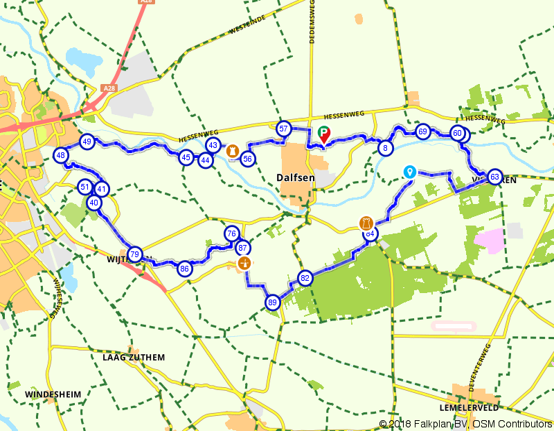 Historische route door het Overijssels Vechtdal bij Vilsteren