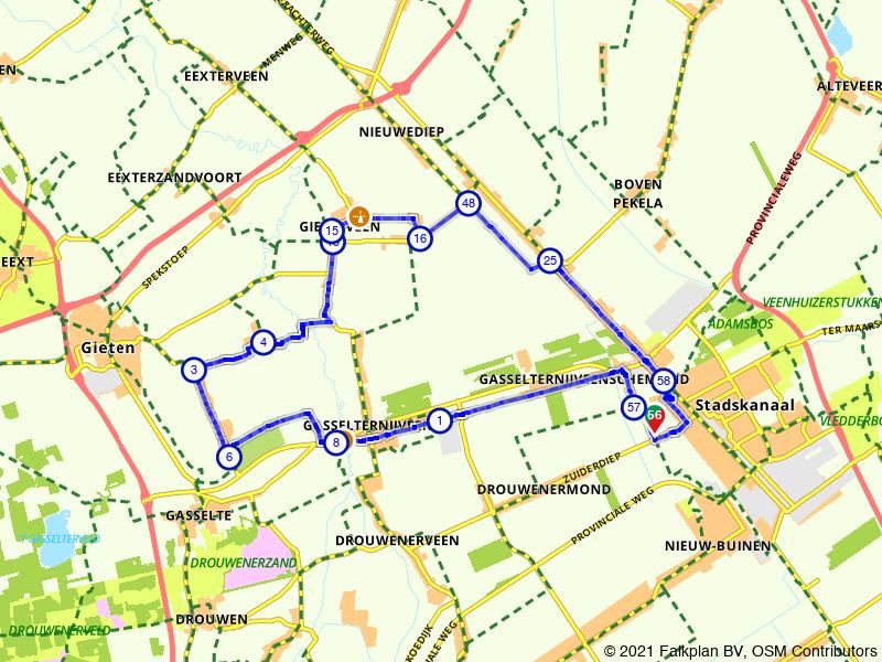 Stadskanaal, Gasselternijveen en Gieterveen