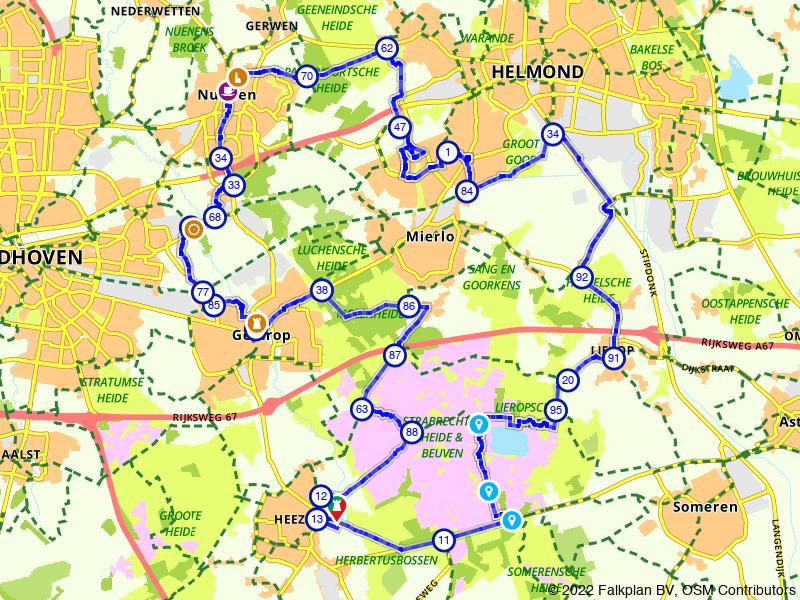 Nuenen, Strabrechtse Heide en Geldrop