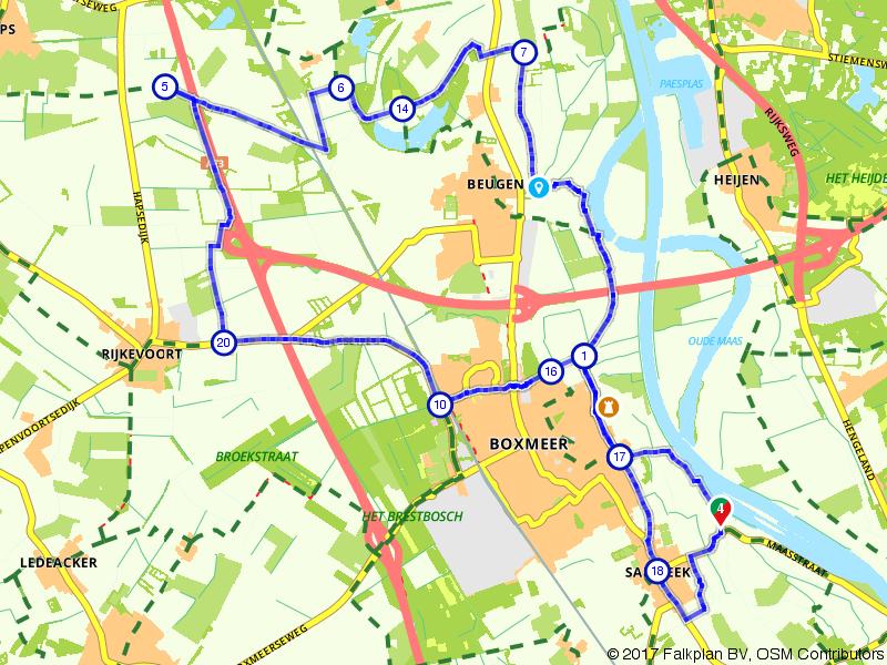 Sambeek, Boxmeer en Beugen