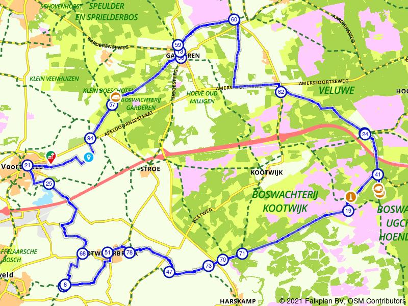 Rondje Kootwijkerbroek, Garderen en Voorthuizen