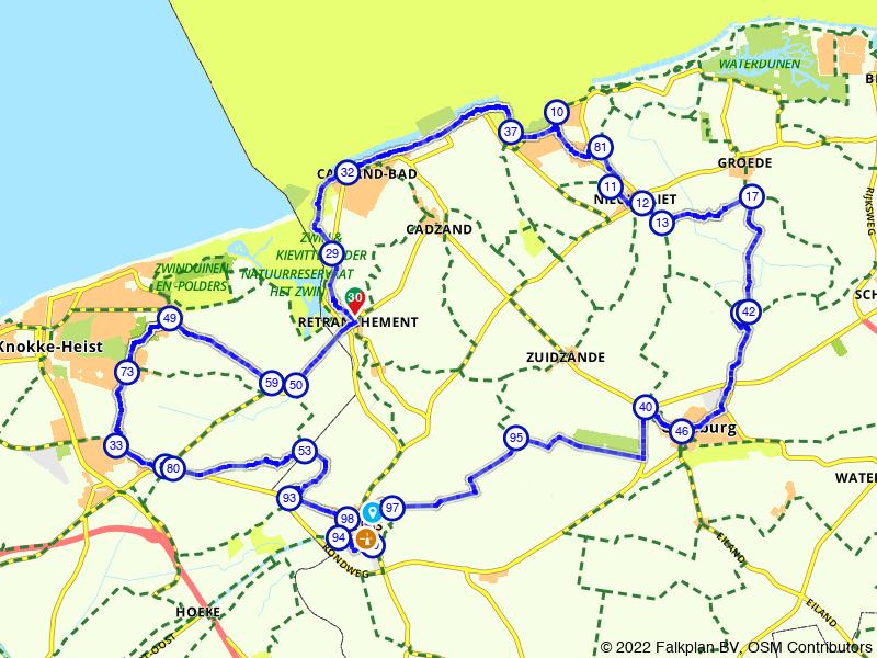 Rondje Cadzand-Bad, Knokke en Oostburg