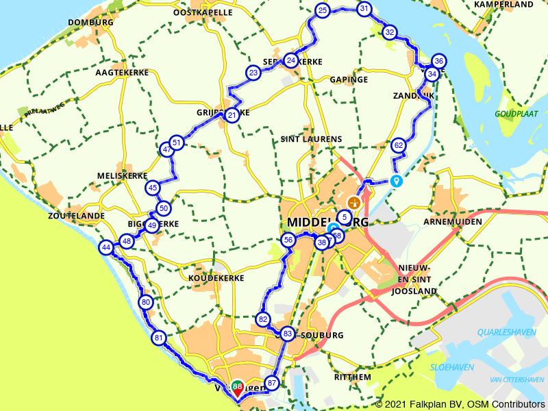 Veere, Middelburg en Vlissingen