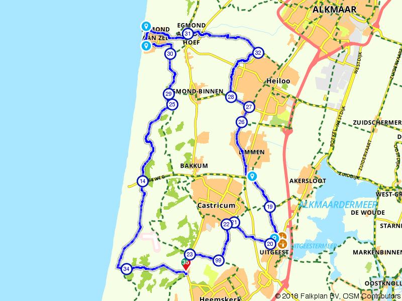 Egmond aan Zee, Limmen en Uitgeest