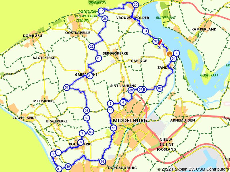 Rondje Koudekerke, Breezand en Veere