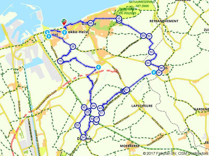 Lekker uitwaaien langs de kust bij Knokke