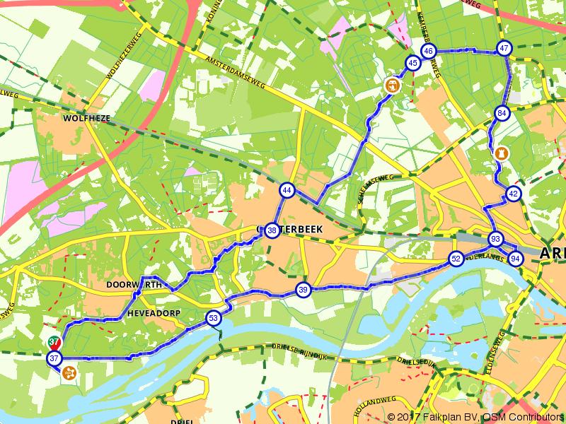 Kastelen en landgoederen tussen Doorwerth en Arnhem