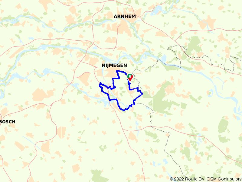 Berg en Dal: door het bos en langs de Maas