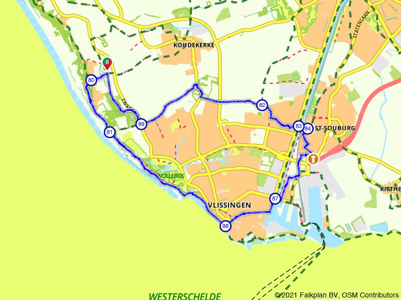 Fietsen door Vlissingen en omgeving