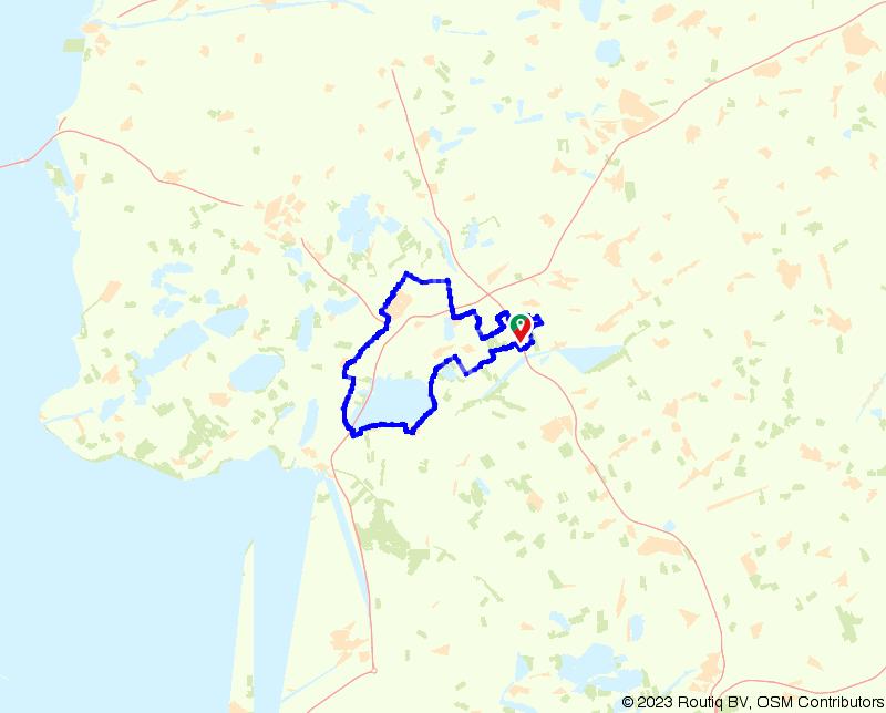 Langs het Tjeukemeer naar Heerenveen