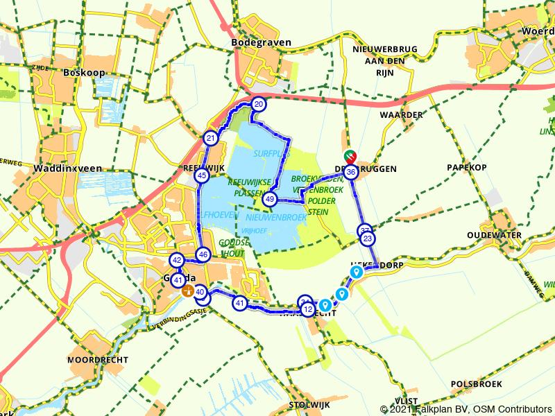 De Reeuwijkse plassen en Gouda