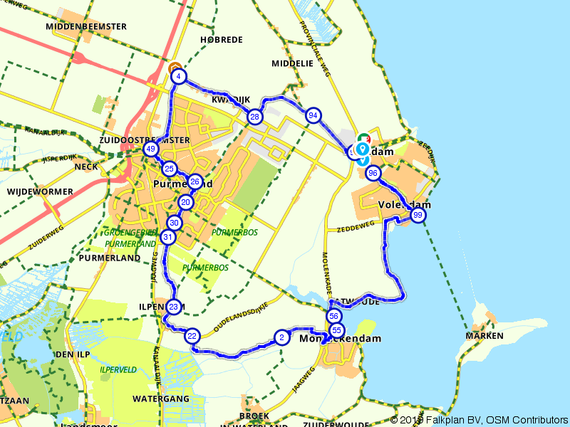 Rondje Purmerend, Volendam en Monnickendam