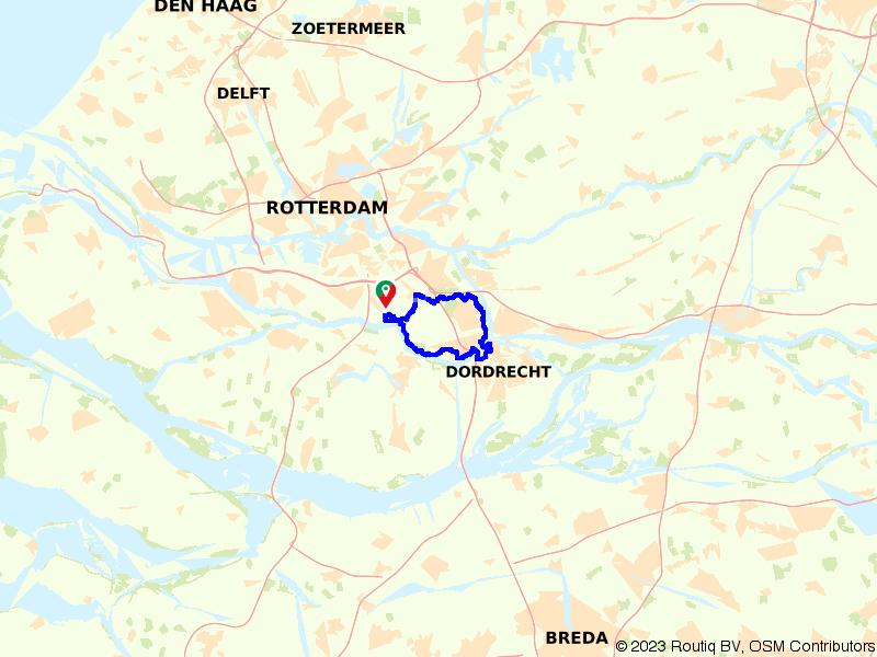 Rondje Dordrecht vanuit Landschapspark Zuidpolder
