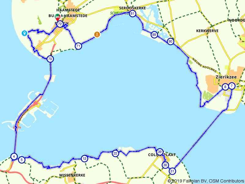 Fietsen naar Noord-Beveland vanaf Burgh-Haamstede