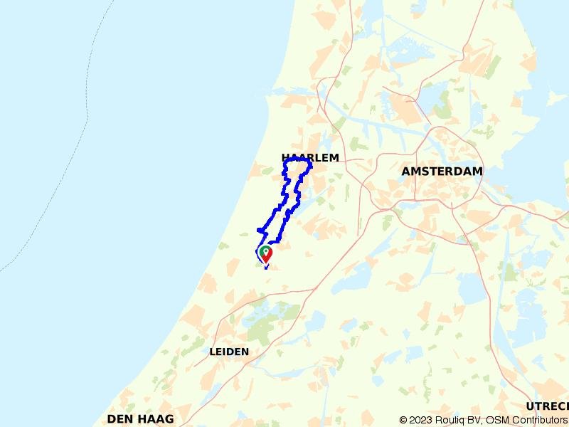 Fietsroute door Haarlem en de Bollenstreek
