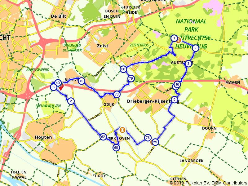 Door de bossen en polders bij Utrecht