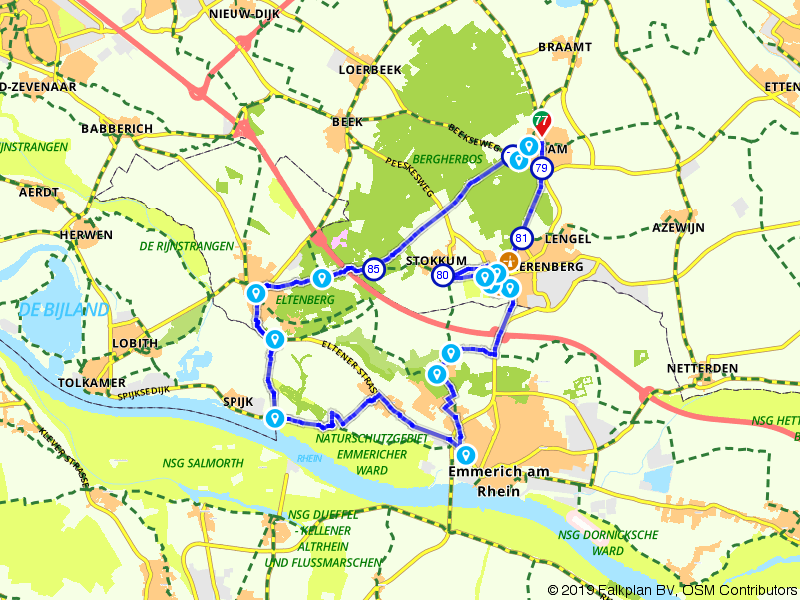 Zeddam, ´s-Heerenberg en Emmerich am Rhein