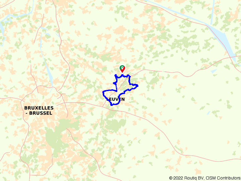 Van Rotselaar naar Leuven en Heverlee op de fiets