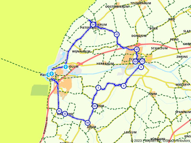 Langs de Waddenzee bij Harlingen