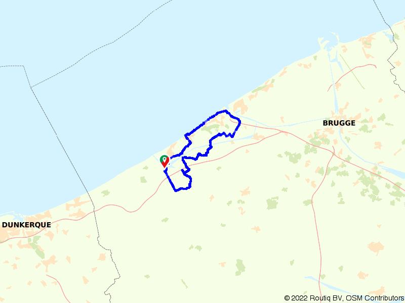 Langs de kust tussen Nieuwpoort en Oostende