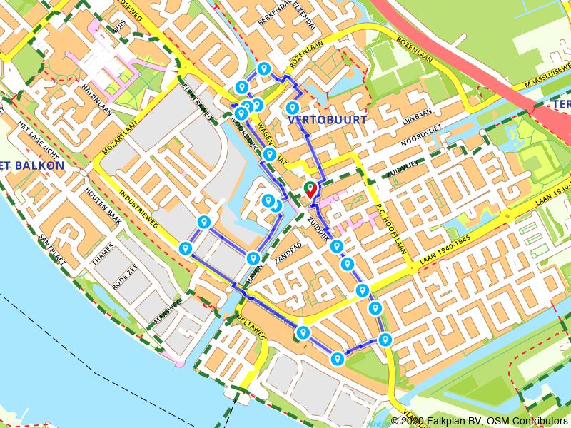 Groene Route door Maassluis