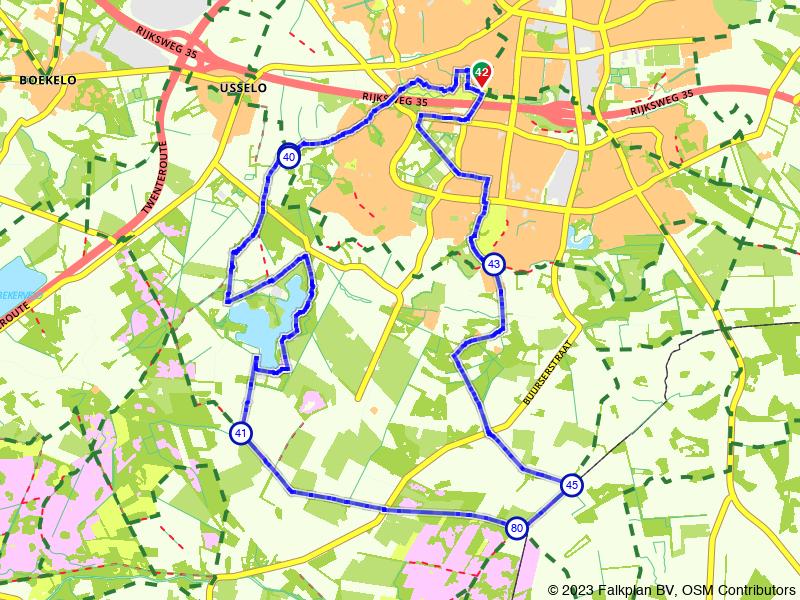 Rondje Enschede en Het Rutbeek