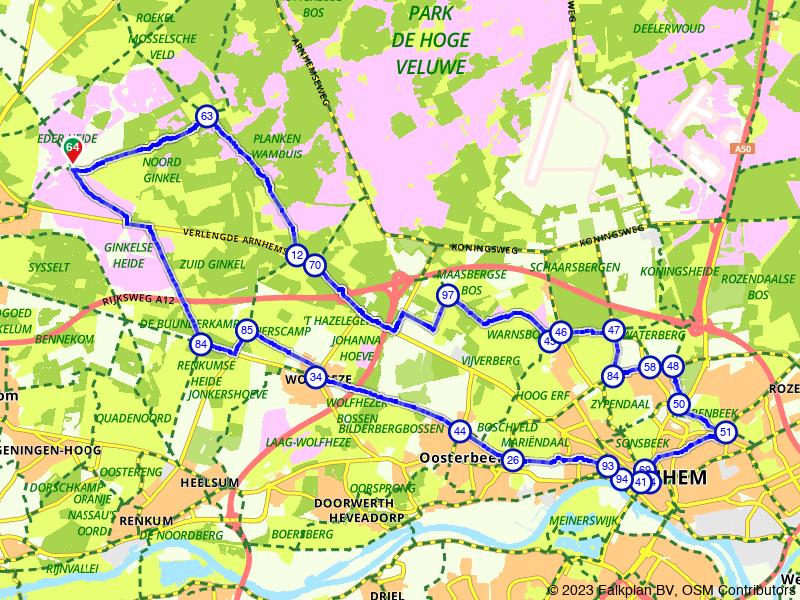 Van Ede naar Arnhem en terug