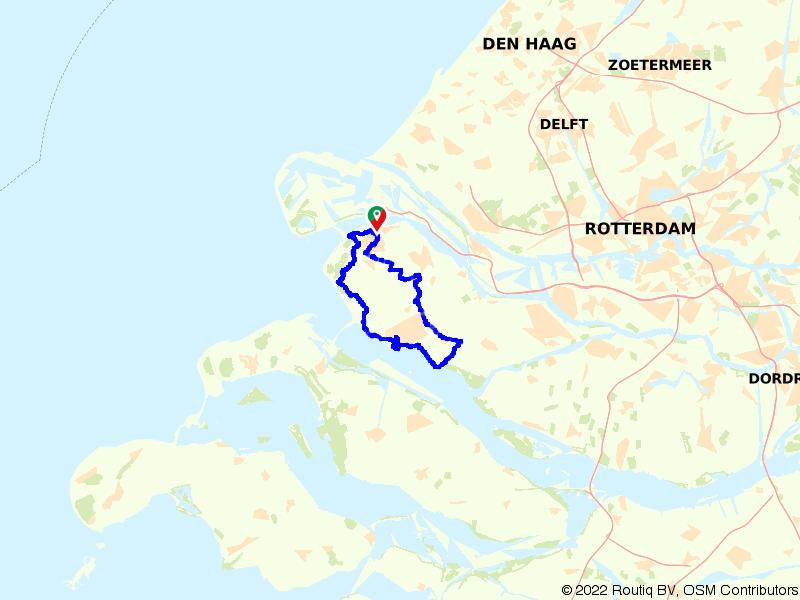 Van Oostvoorne door de duinen naar Hellevoetsluis