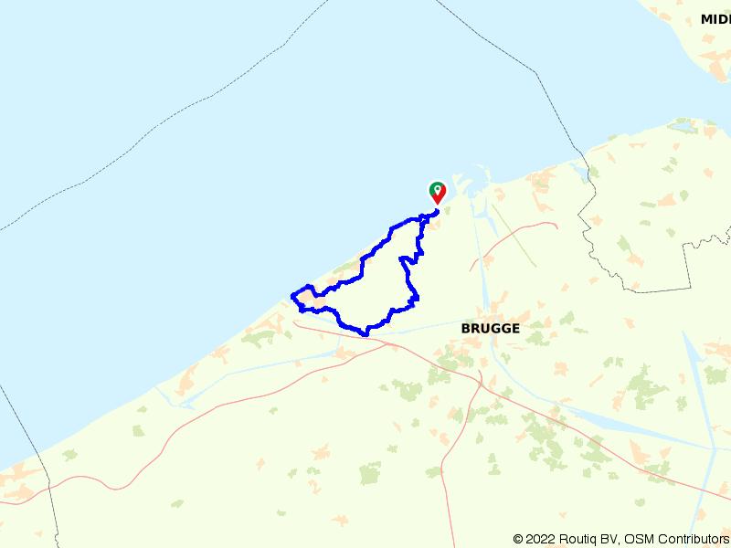 Langs de kust tussen Blankenberge en Oostende