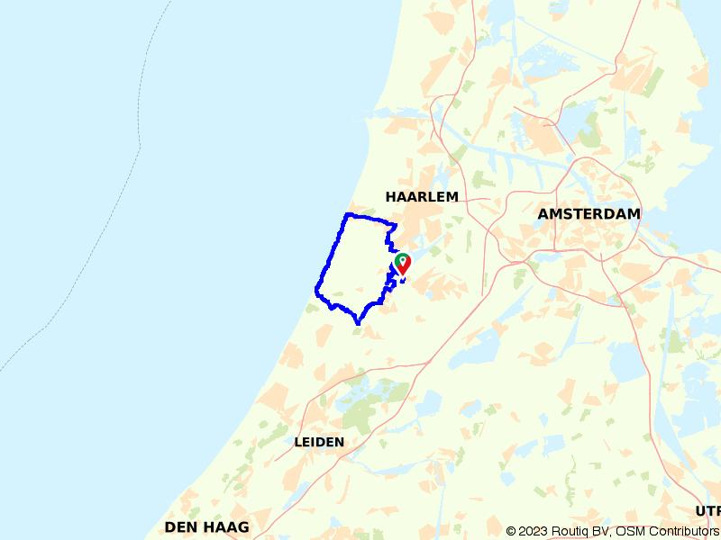 Door de bollenstreek van Noordwijk naar Zandvoort
