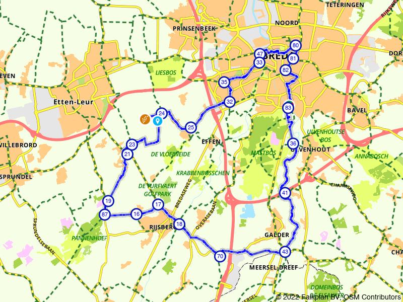 Rondje landelijk Breda