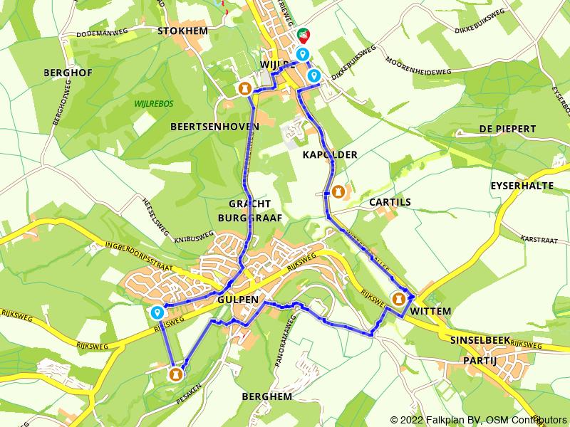Kastelenroute langs Wijlre en Gulpen