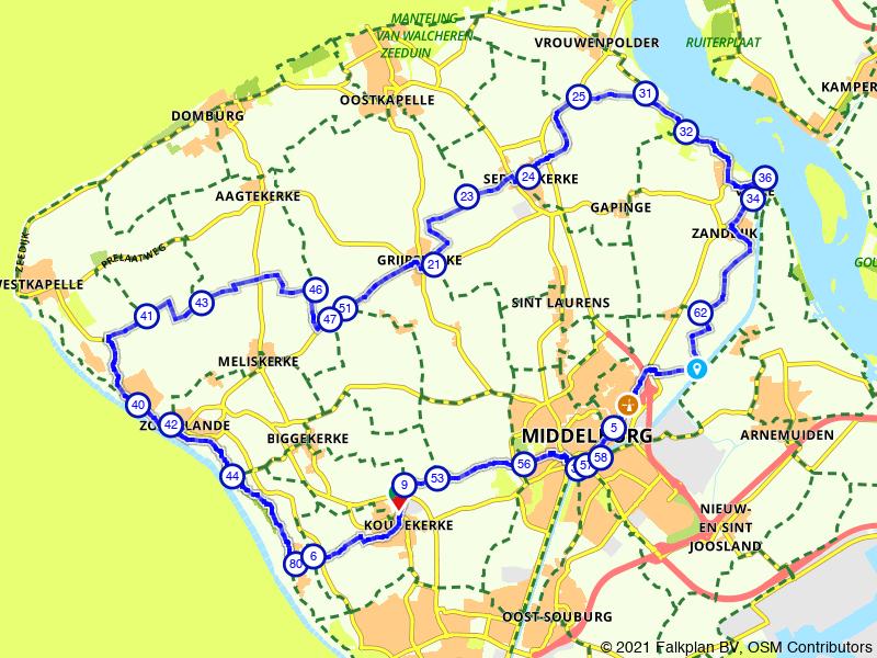 Vanuit Zoutelande naar Middelburg en Veere