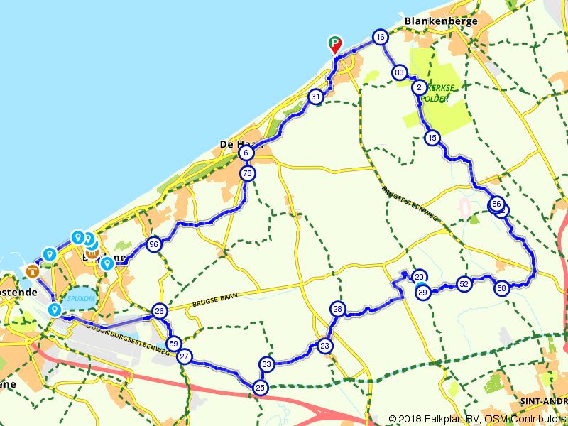 De duinen en de polders tussen Oostende en Uitkerke