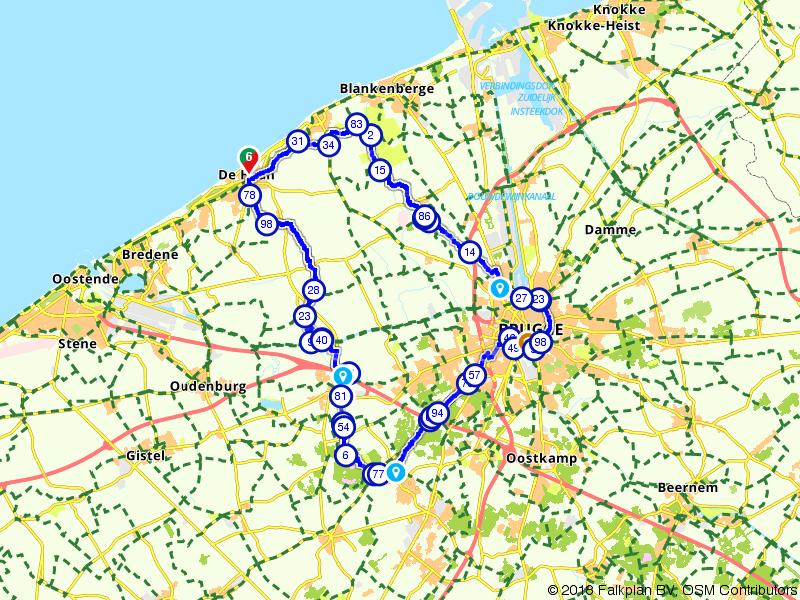 Van de Belgische kust naar Brugge