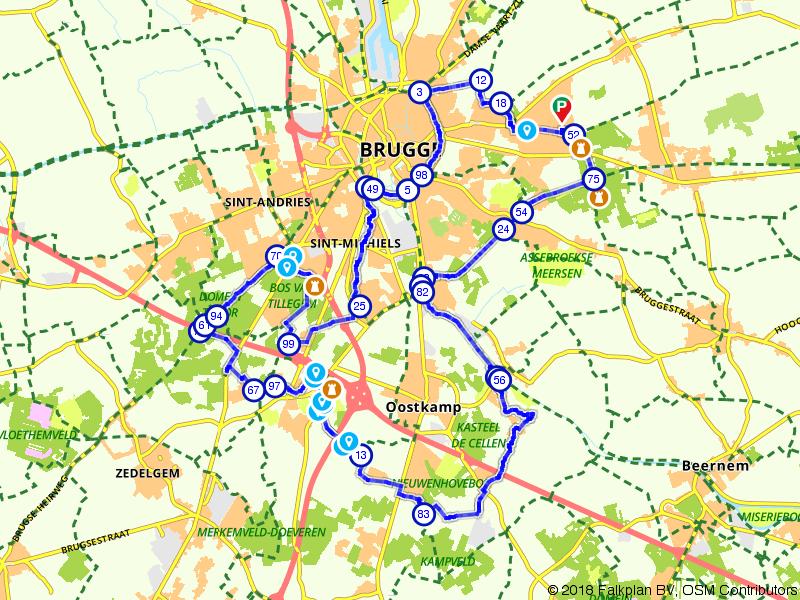 Kastelen rondom Brugge