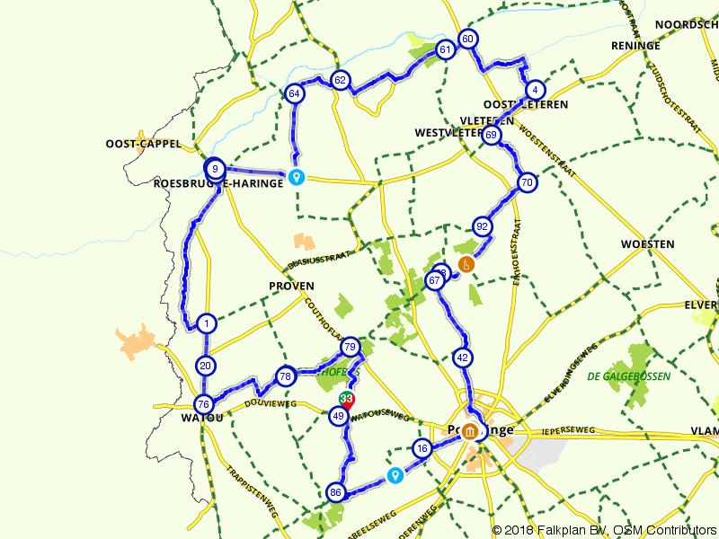 Langs de grens van Frankrijk door België