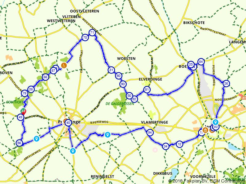 Door het mooie België, van Poperinge naar Ieper