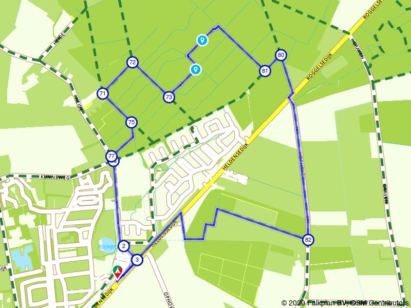 Korte wandelroute bij Roggel