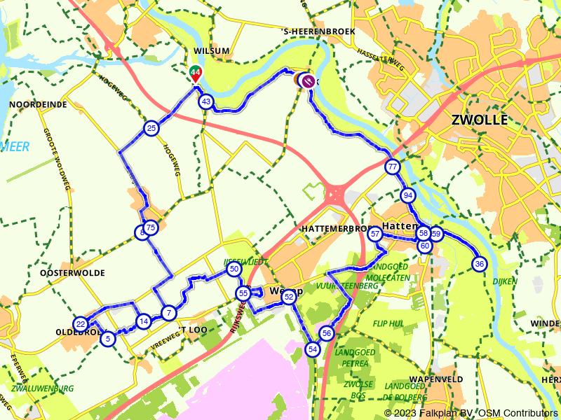 Langs de IJssel tussen Kampen en Hattem