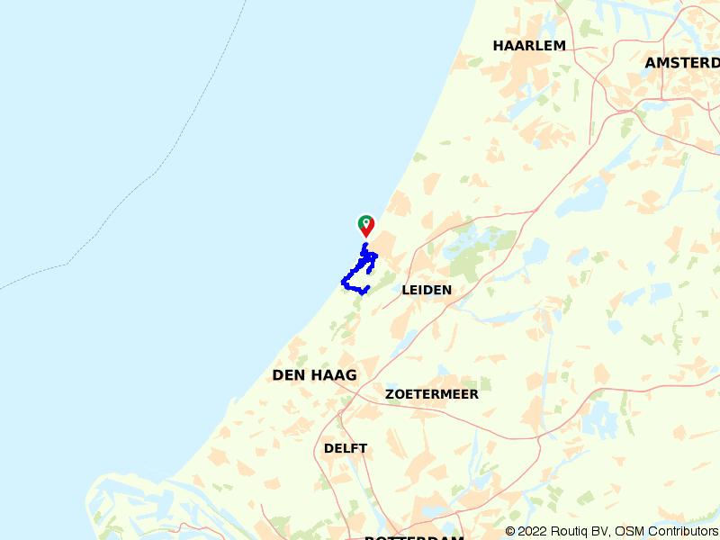 Rondje Wassenaarse Slag vanuit Katwijk