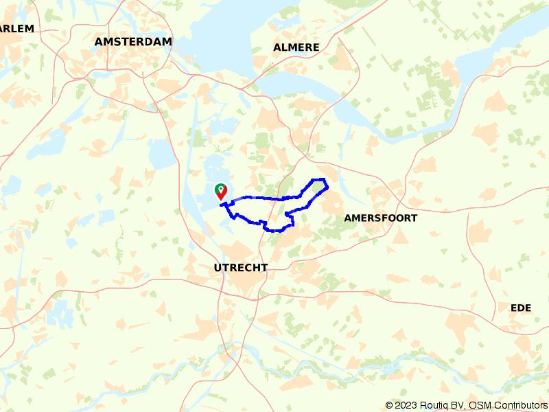 Startend langs het water richting Bilthoven