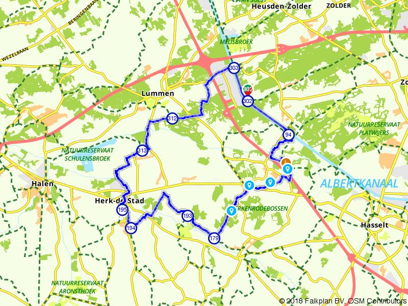 Ronde tussen de Bolderberg en Herk-de-Stad