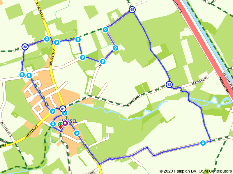 Oorlogspad Hunsel - lange route