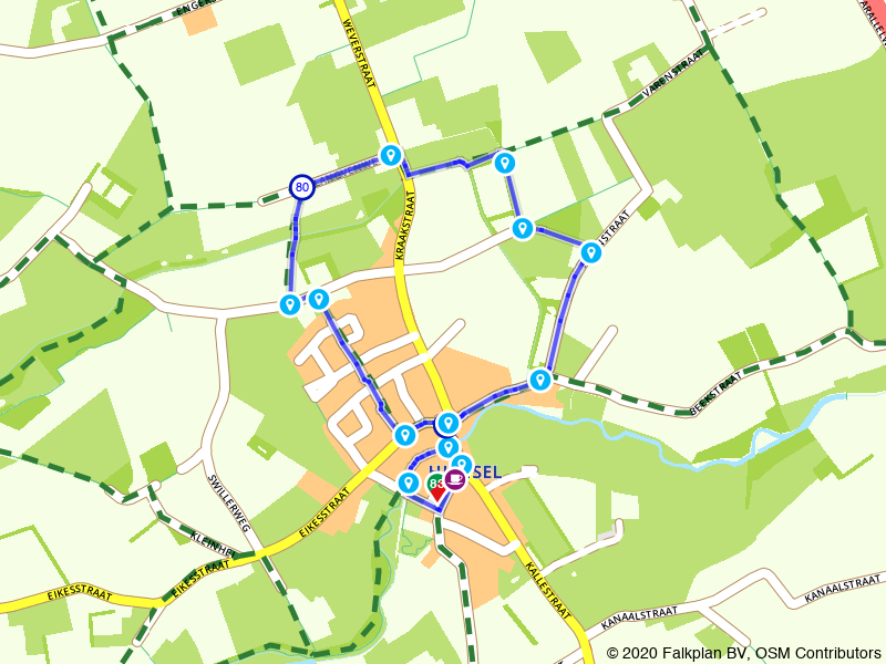 Oorlogspad Hunsel - korte route