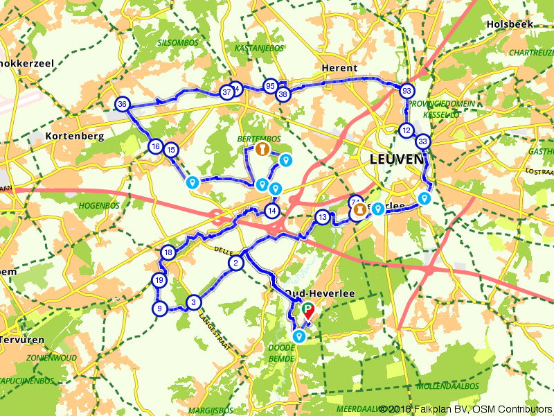 Prachtige bouwwerken in en rondom Leuven