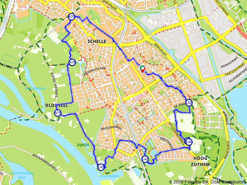 Wandelroute rondje Zwolle
