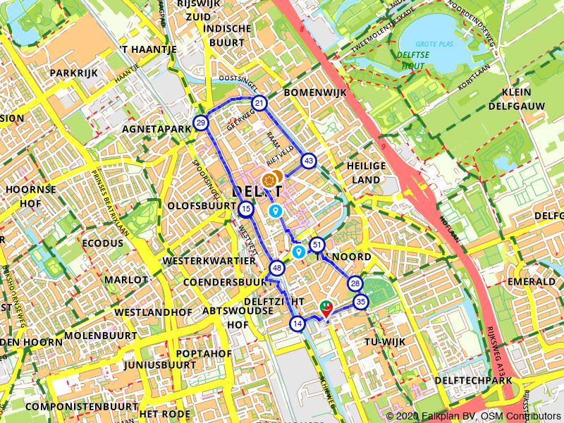 Wandelroute binnenstad Delft