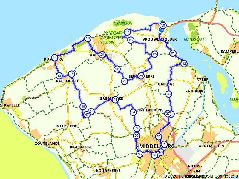 Rondje Middelburg en Domburg vanuit Vrouwenpolder